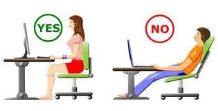 Sentarse de forma correcta