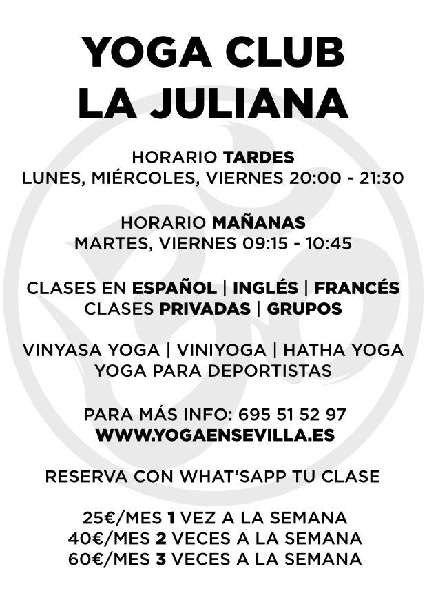 Horario Yoga Club La Juliana, yogaensevilla.es